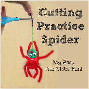 Cutting Practice Spider Preschool Activity for Kids from Lalymom