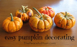 Easy Pumpkin Decorating tutorial