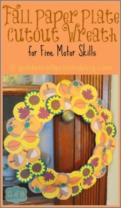 Fall Paper Plate Cutout Wreath
