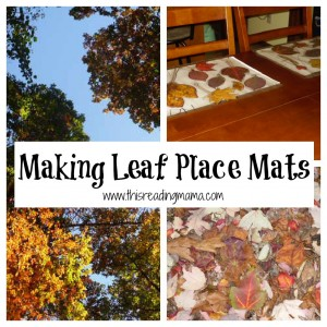 Making Leaf Place Mats