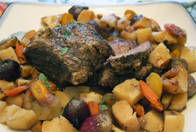 A Simple Roast in the Crockpot