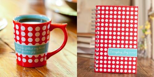 Womens mug and journal dayspring