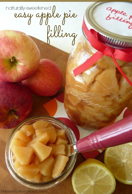 Naturally-Sweetened Apple Pie Filling