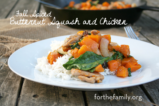 Fall Spiced Butternut Squash and Chicken