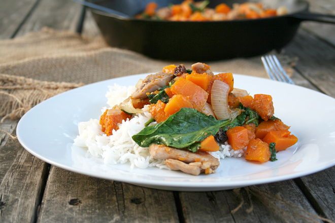 A Fall Recipe: Spiced Butternut Squash and Chicken
