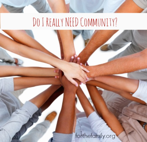Do I Really Need Community?