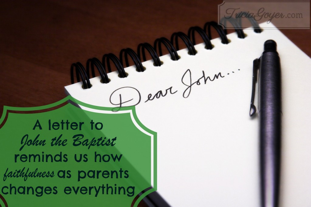 Dear John - A letter to John the Baptist