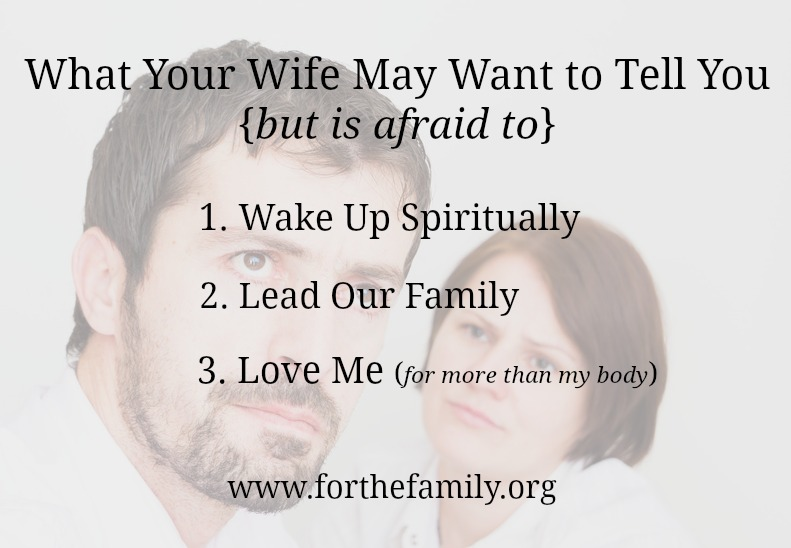What Your Wife May Want to Tell You in Marriage