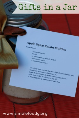 Gifts in a jar - Apple Spice Raisin Muffins