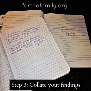 Step 3: Collate your Findings