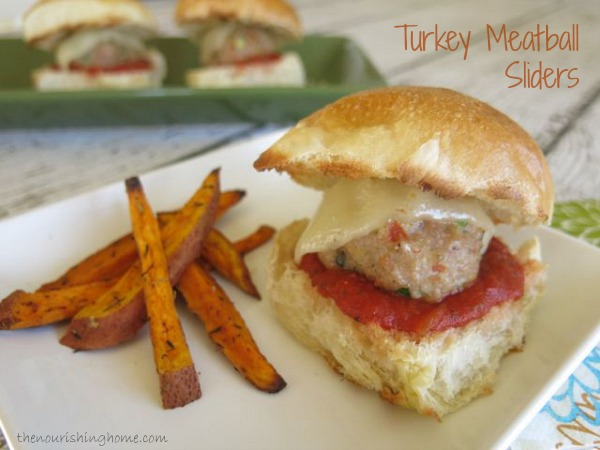 Turkey-Veggie Meatball Sliders