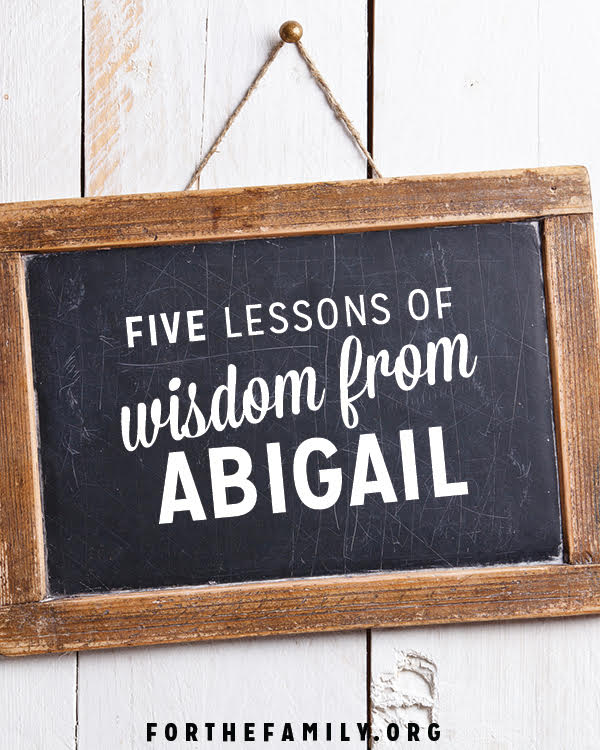 Wisdom is the fear of the Lord, while understanding is that wisdom in practice. Here are five lessons of wisdom we can ALL learn from Abigail in the Bible.
