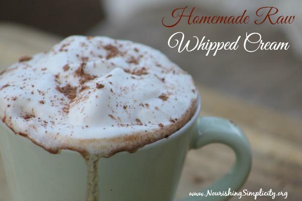 Homemade Raw Whipped Cream