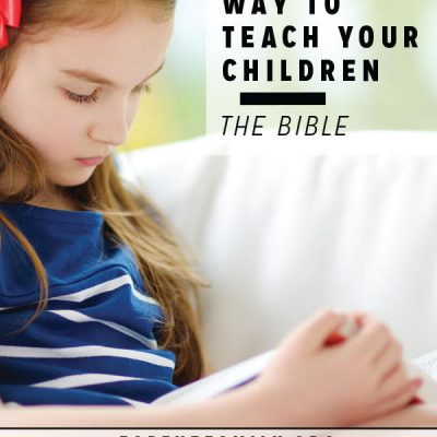 A Simple Way to Teach Your Children the Bible