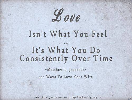 Love isn't what you feel