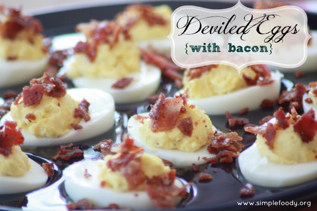 Deviled Eggs {with bacon}