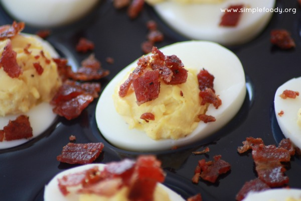 Going to a family event? Take these Deviled Eggs with Bacon and you better double or triple this recipe... they go fast!