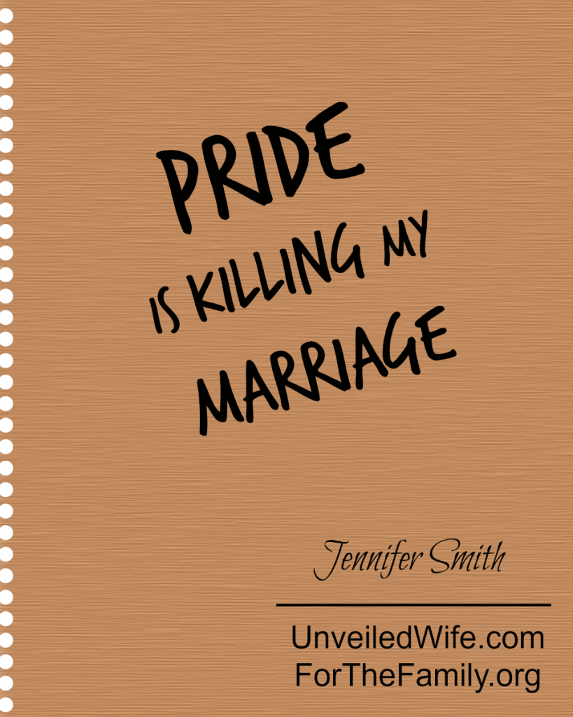 pride is killing my marriage
