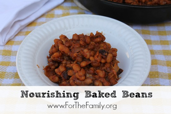 One of the things I love about these nourishing baked beans is that you don't need to bake them. You can simmer them on the stove and have an equally tasty dish.