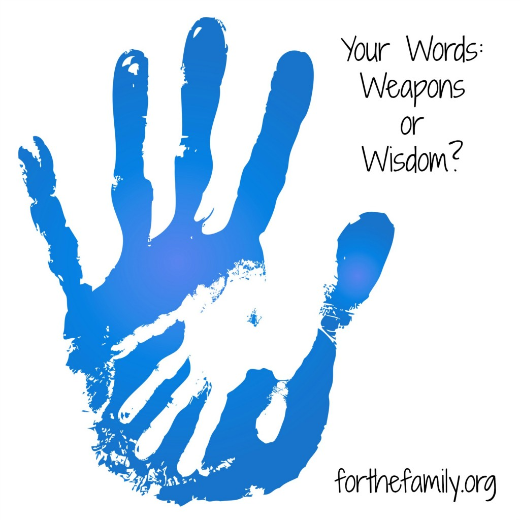 your words-weapons or wisdom