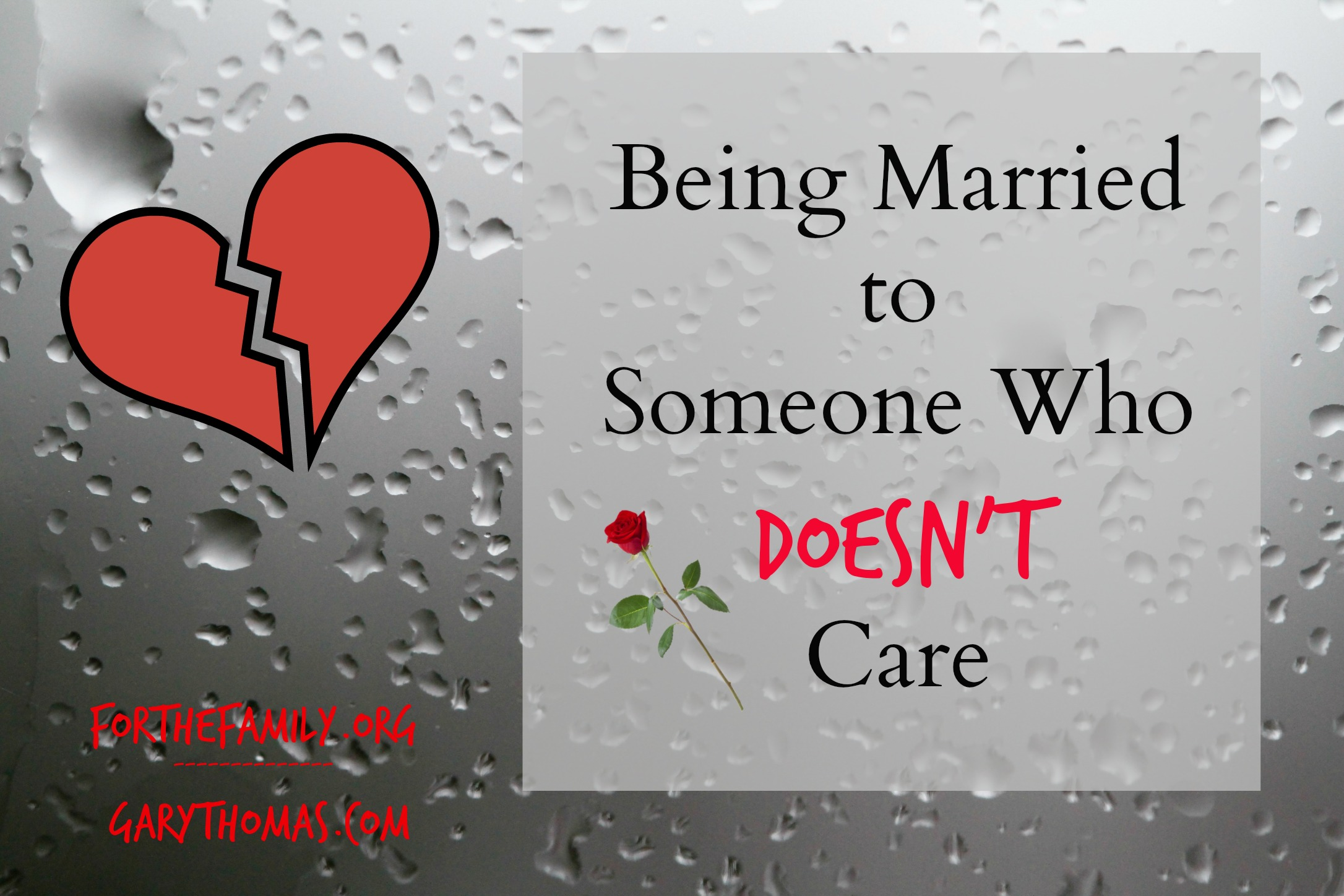 being married someone doesnt care