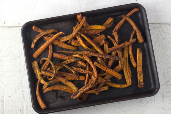 Want a healthy alternative to french fries? My kids beg for these delicious and easy carrot fries! You won't believe how good they are!