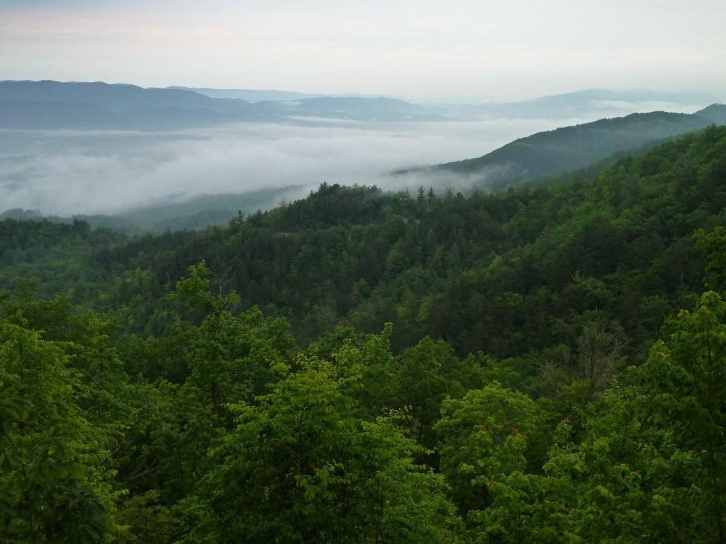 cliffside blue ridge mountain view
