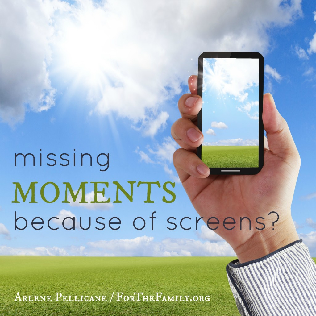 missing moments because of screens
