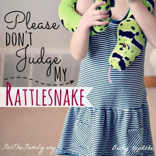 Please Don't Judge My Rattlesnake | ForTheFamily.org