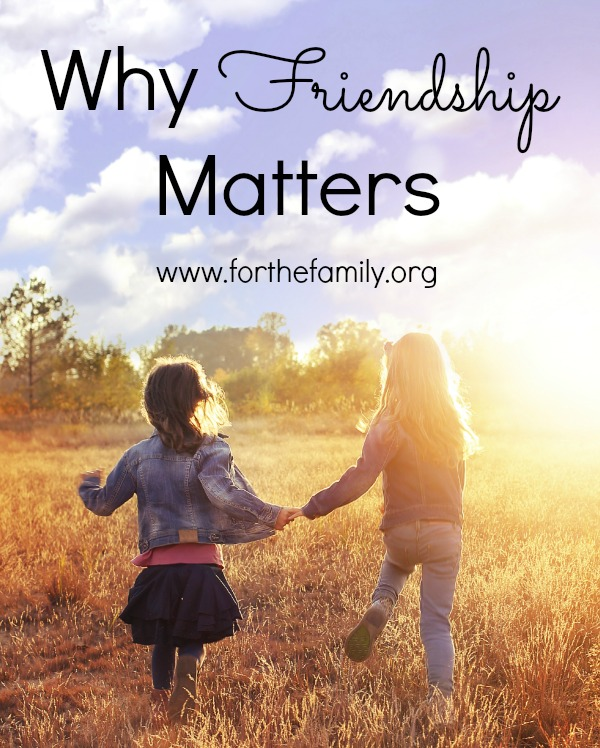 Why Friendship Matters For the Family