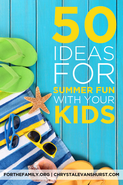 Are you ready for summer fun? As the school year draws to a close, many of us are making plans for the hot days ahead. What's on your list? These ideas will set you up for fun indoors and out!