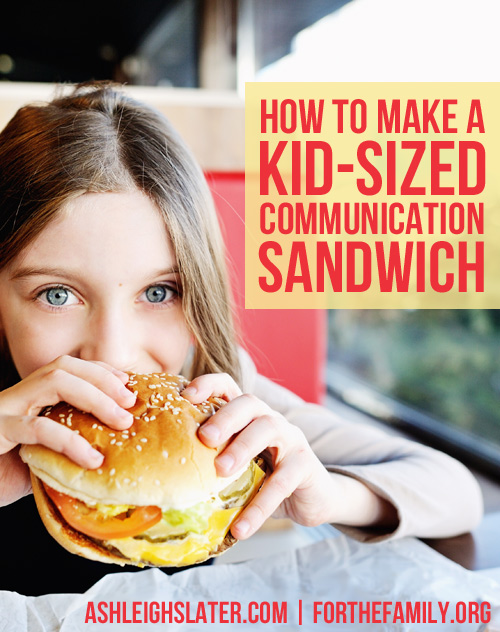 When criticism or correction are needed in our children's lives, it can be hard to communicate lovingly the areas that need work. If you struggle with knowing whether you praise or correct too much, or too little, you probably need to learn how to serve a communication sandwich. This principle will completely change the way you talk to your kids... And how well they eat up your words!