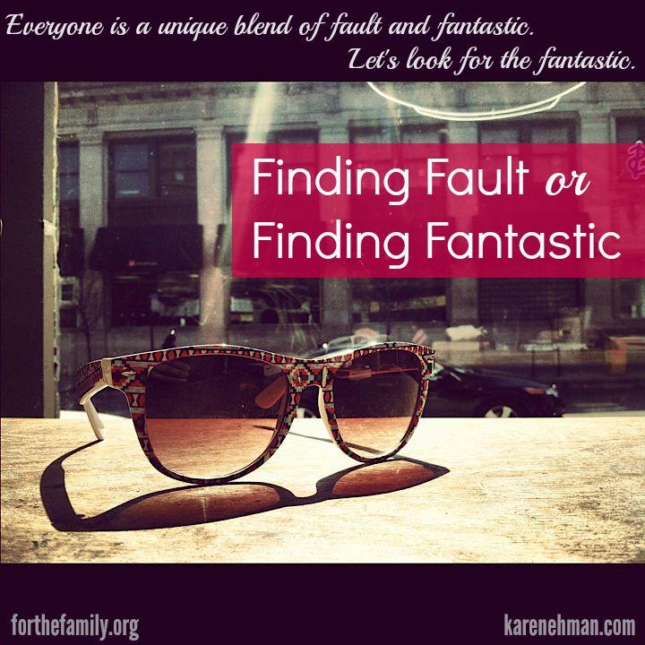 Finding Fault or Finding Fantastic