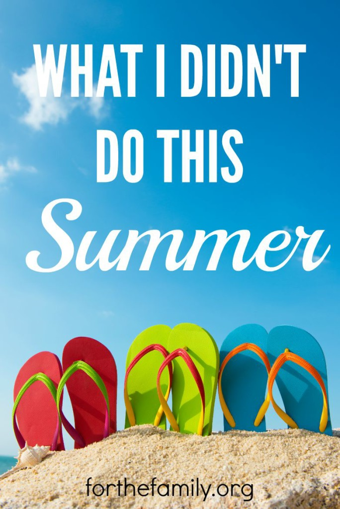 Did you accomplish all you wanted to this summer? If you're answer is no, you're in good company. Perhaps the gift of a season well spent is not in tasks completed and checked off our lists, but in what has happened inside our hearts. Is your heart ready for Fall?