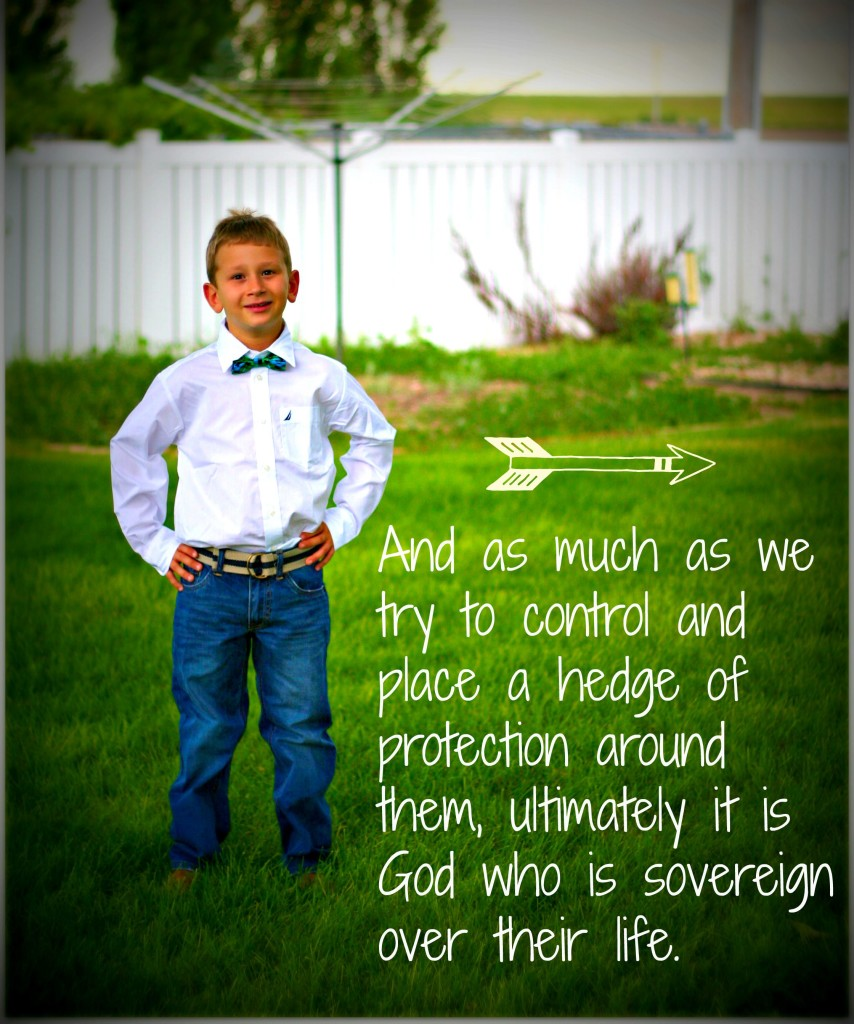 Loosening control on any aspect of our children's lives can be an act of faith, but when we release them into the will of God? Then its an act of worship. If you are afraid of what lies ahead in your children's young lives, take heart! Remember that HE is sovereign over all the details and holds them in his hand.