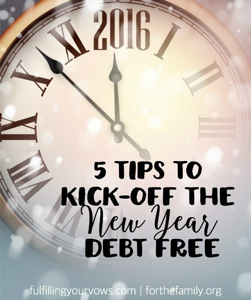 5 tips to kick off the new year debt free - The Three Major Elements Found In Debt And Loans