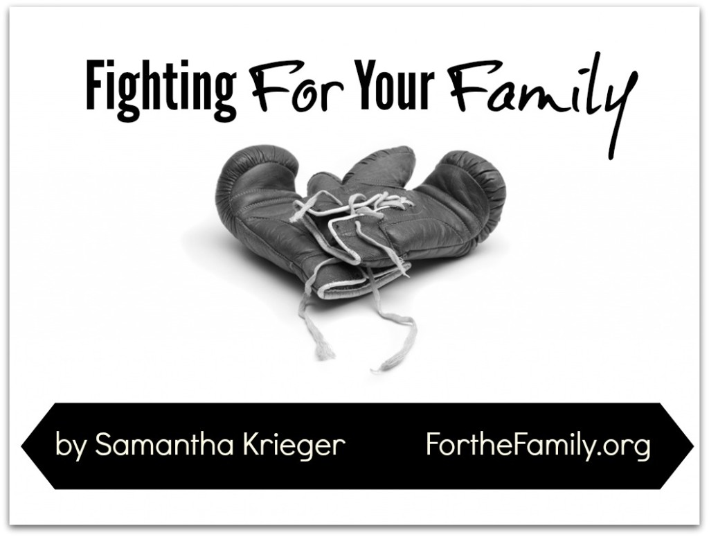 Does your family squabble? Fight? How do we move from fighting with one another to fighting for one another? Its time to put on our armor and stand today, friends.