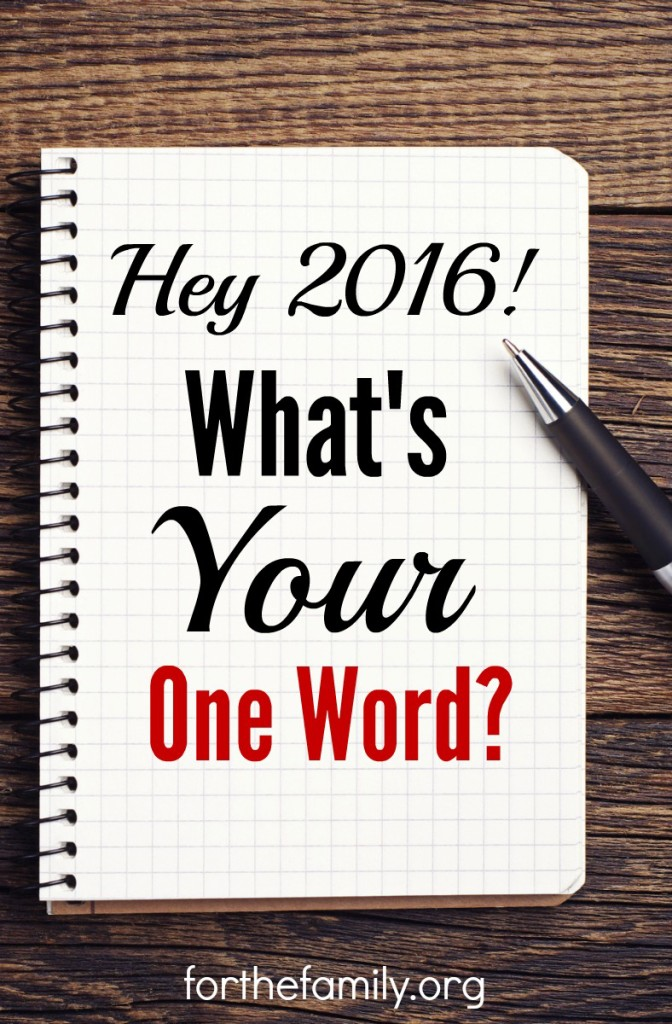 Does your family choose a word to represent your heart and goals for the year? Do you personally? Often the word God gives us as we start afresh can speak volumes about the work God is doing below the surface in our hearts and what he longs to do for our families. So what's your word? And what's your story?