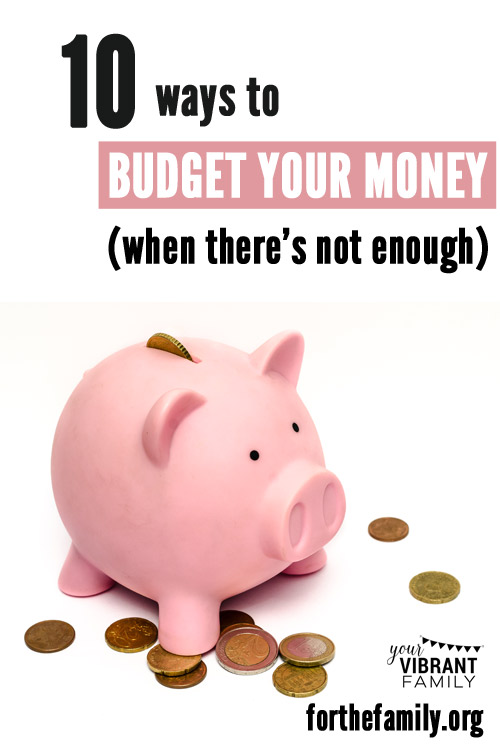 Do you make a budget for your home? This task can be all the more challenging when there isn't enough money to go around. If you are struggling with your finances, or perhaps with a severe lack, we have some encouragement or you today.