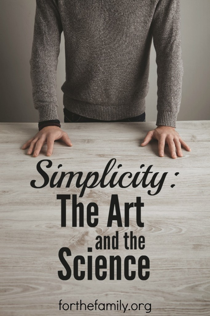 Simplicity has been a buzz word for at least 20 years. We crave it, try to structure our lives around it, and many of us find it ever elusive. Perhaps instead of searching for simplicity, what we really need is a life free of distractions.