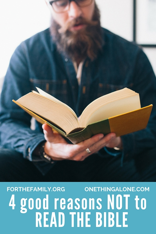 Is your family spending time in God's Word each day? There nothing you could invest your time in that offers such incredible returns and blessing- but would you believe there are some reasons you shouldn't read your Bible? Take a look with us at God's word, and examine your own heart today.