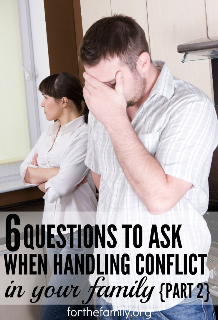 What questions do you need to ask when your family is facing conflict? I'm part 2 of this series, we'll cover more ways to examine your heart and share how to move forward together in Christ, so that your family is strengthened through any difficulty you face!