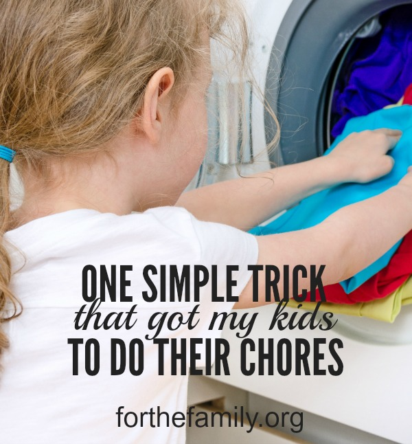 Are you constantly reminding your children to do their chores? Nagging and harping can lead to frustration as a parent, and steer us away from the goal to teach our children responsibility, and instead, just fill our homes with tension. Here's one new trick to motivate them today- come and share yours with us!