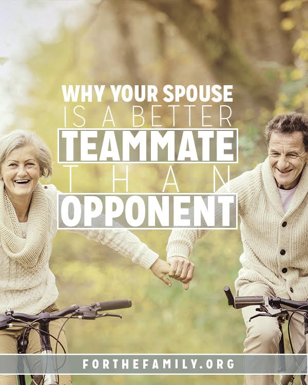 Why Your Spouse is a Better Teammate Than Opponent