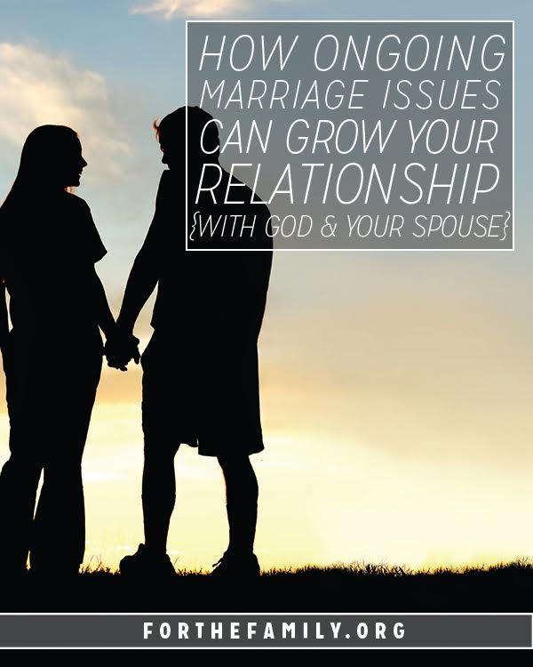Every single one of us has marriage struggles. How are you allowing God to shape you heart and family through yours? Will you let him use your journey for His glory and your good?
