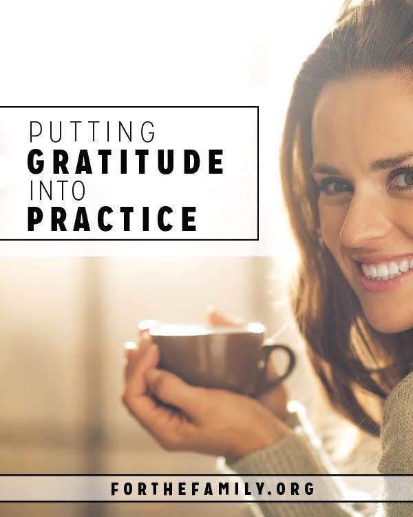 Putting Gratitude into Practice