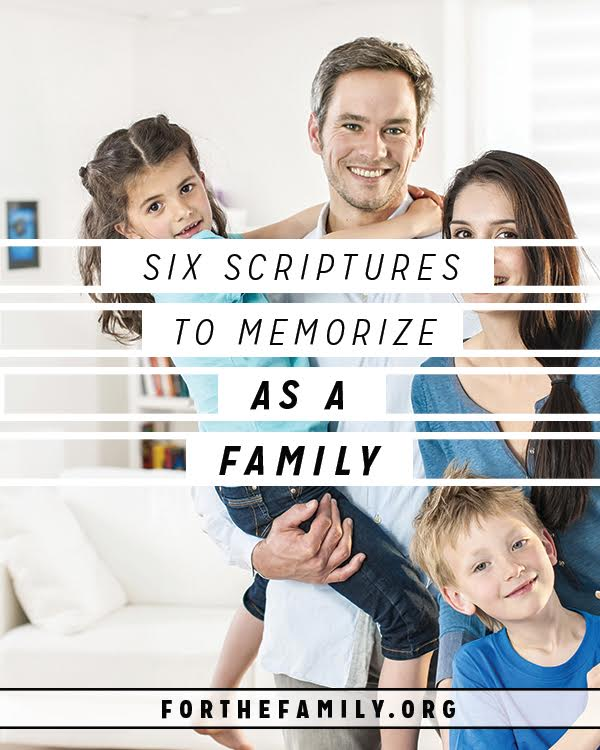 Has your family committed to tucking God's word away in your hearts? It can be a difficult practice to begin if you haven't done it before! To help, here are some of our favorite passages that your family can memorize together.