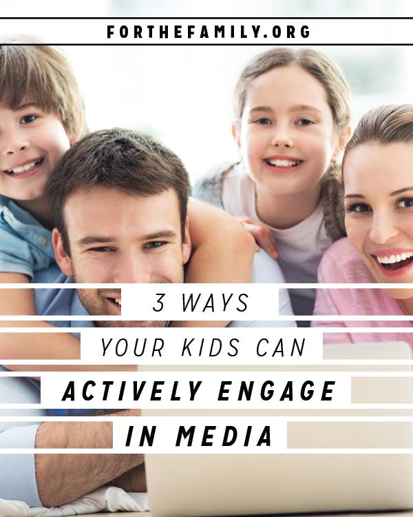 Do you worry about the messages your children are exposed to? When we work to develop a strong family culture, we can engage the world around us with greater confidence and intention. Here are a few ways our kids can actively engage with the media around them.