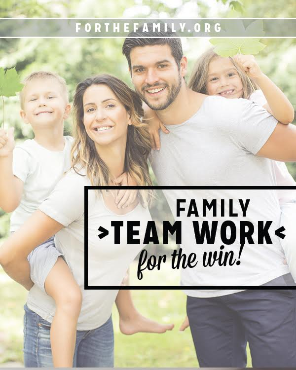 Does your family work well as a team? We all want to say yes, don't we? Here's how to get each individual member of your crew to work together!