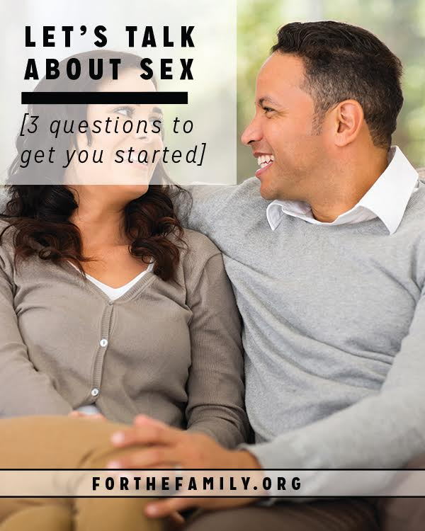 Although it might make many of us blush, talking about sex is so important to the health of our marriages. If you need help to broach this tender topic, we have some great conversation starters and questions for you and your spouse today!